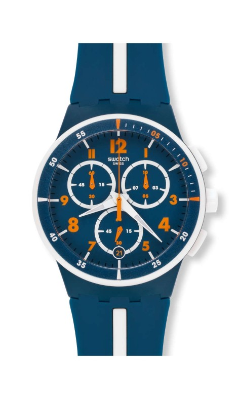 WHITESPEED Watch by Swatch, image courtesy of swatch.com $120.00