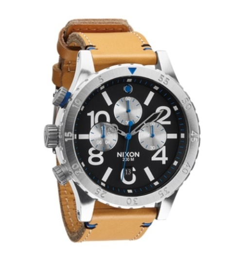 48-20 Chrono Leather, Image courtesy of www.Nixon.com $375.00