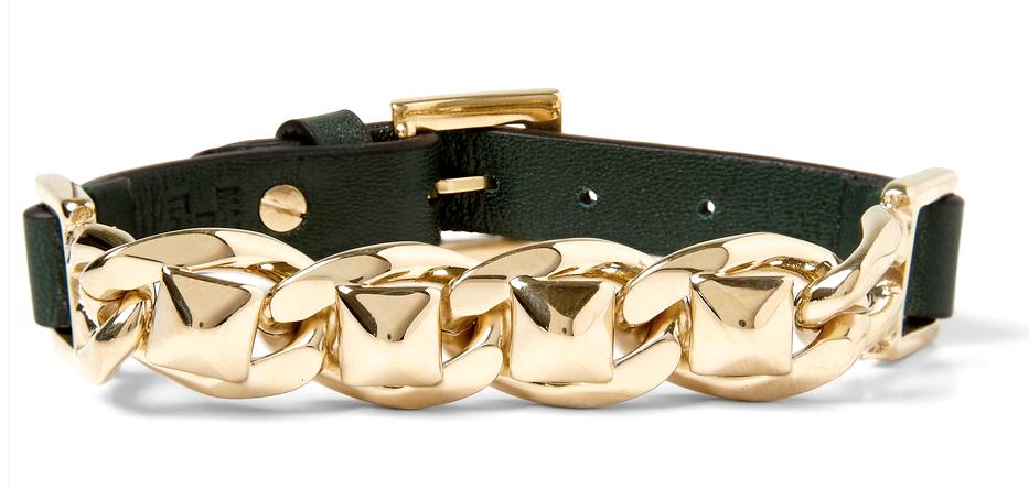 Valentino Bracelet available on http://www.mrporter.com/en-us/mens/valentino/stud-link-metal-and-leather-bracelet/410233