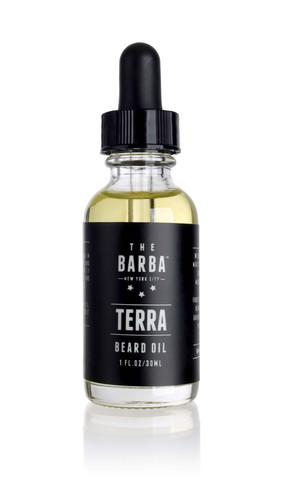 http://www.thebarbanyc.com/products/terra-beard-oil
