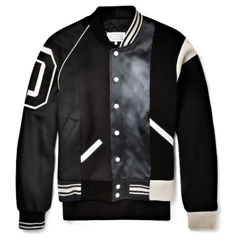 http://www.mrporter.com/en-us/mens/maison_margiela/satin-panelled-cotton-twill-varsity-jacket/493097