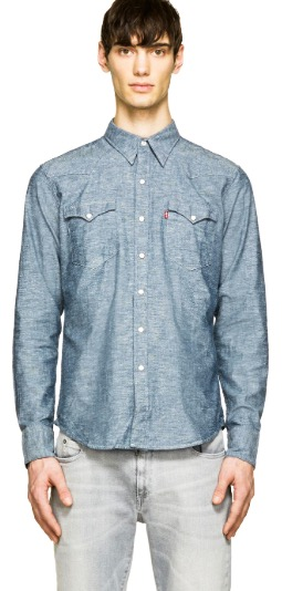 https://www.ssense.com/en-us/men/product/levis/blue-chambray-barstow-western-shirt/1090503