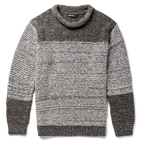 http://www.mrporter.com/en-us/mens/issey_miyake/striped-wool-blend-boucle-sweater/587914